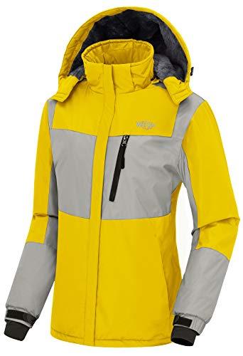 - Wantdo Women's Winter Ski Jacket Waterproof Raincoat Windproof Hoodie Yellow M