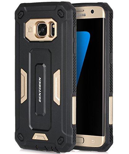 Slim Rugged Shockproof TPU Case For Samsung Galaxy S7 Edge (Black) - 4