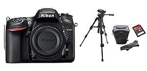 Nikon D7200 Body Only + Tripod + DSLR Bag + 16GB SDHC Memory Card Bundle Kit