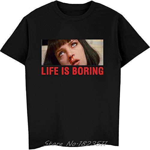 stronggirl Harajuku T-Shirt Virgin Mary Mixed Pulp Fiction Mia Wallace T Shirt Men Tshirts Black New -
