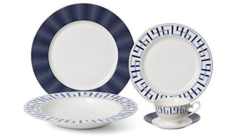 Royalty Porcelain 20-pc Dinner Set for 4, 24K Gold, Premium Bone China (Bentley - Bentley Gold Plated