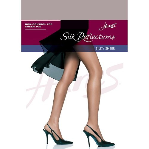 Soft Womens Pantyhose (Hanes Women`s Set of 3 Silk Reflections Non-Control Top Sheer Toe Pantyhose CD, Soft Taupe)