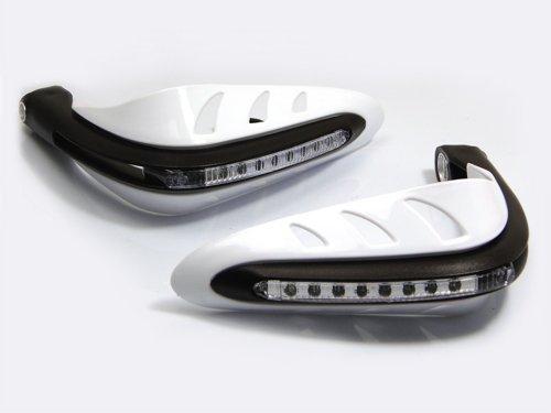 6 opinioni per Bianco Moto Motocicletta Quad moto Paramani Protezioni Mano protezioni con LED