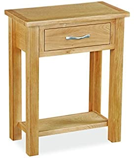 roseland furniture newlyn oak telephone table hall table 1 drawer table