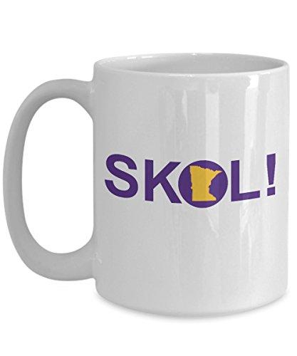 SKOL! MN Vikings Cheer Coffee Mug - Vikings Football Mug, 2018