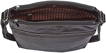 One Size Personalized Initials Embossing Jack Georges Voyager 7832 Black