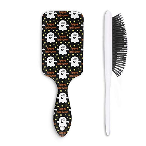 Unisex Detangle Hair Brush Halloween fantasmas Decor Boar Bristle Paddle Hairbrush for Wet, Dry, Thick, Thin,Curly hair