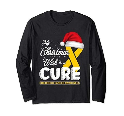 My christmas wish is a cure Childhood Cancer Long T Shirt