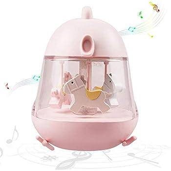 amazon com cute chick baby night light, carousel music box rotatecute chick baby night light, carousel music box rotate with usb charge port \u0026 touch