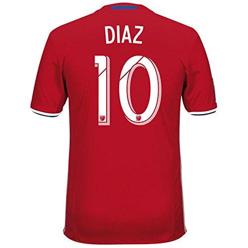 チャンバーおとなしい違うAdidas DIAZ #10 FC Dallas Home Jersey 2016 (Authentic name & number) /サッカーユニフォーム FCダラス ホーム用 ディアス