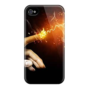 LauraKrasowski Perfect Cases For Iphone 6/ Anti-scratch Protector Cases (photoshop Bulbe In Fire)