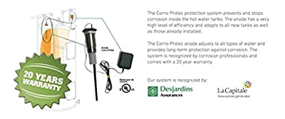 Corro-Protec Powered Water Heater Anode - Stops Rotten Egg Smelly Water!