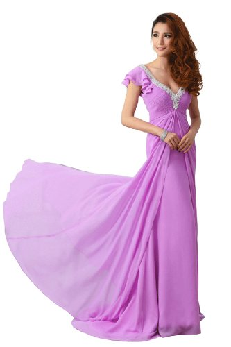 Kleid Violett Violett Emily Beauty Damen Fashion 0Cq71fOw