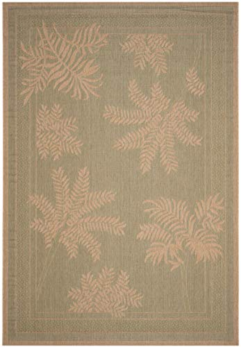 (Safavieh Courtyard Collection CY6683-44 Green and Natural Indoor/ Outdoor Area Rug (8' x 11'))