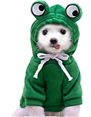 BAYOU Dog Hoodie Pet Clothes Fleece Dog Sweatshirt with Fruit Hood Pullover Dog Sweaters Winter Cat Clothes Warm Puppy Sweaters