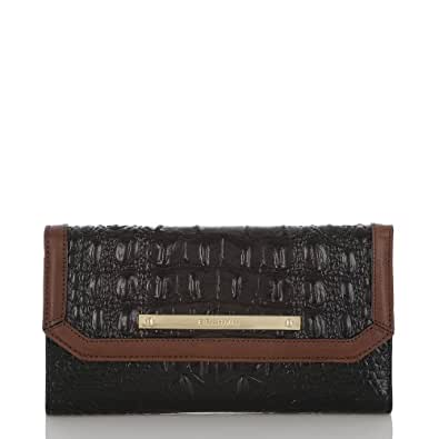 Brahmin Tricolor Checkbook Wallet Clutch Black/Brown