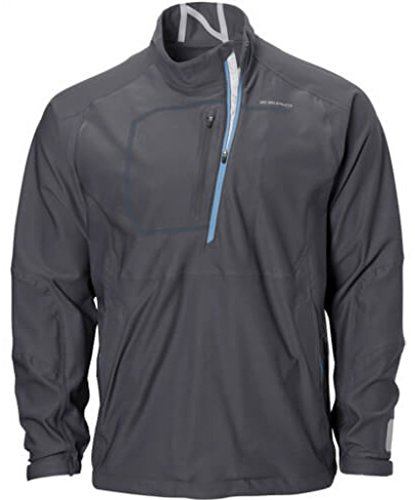 Zero Restriction Lightweight Pullover - Zero Restriction Men's Gore-tex Halt Pullover Rain Jacket, Shadow, Large