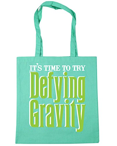 Bag 10 Shopping Gravity Defying Mint Beach HippoWarehouse Tote It's Try litres Gym 42cm to Time x38cm nOqaq1Uv