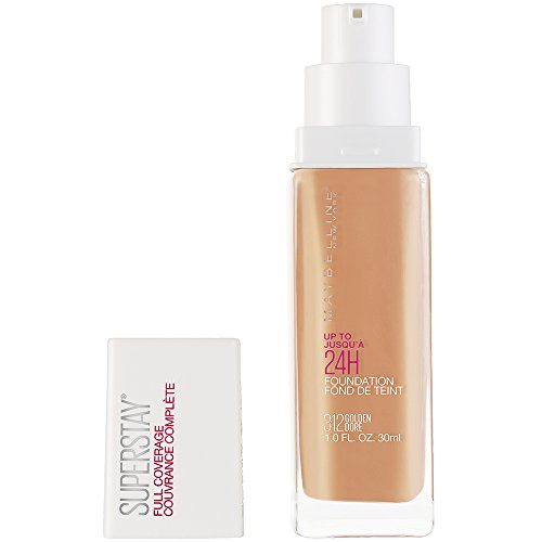 Maybelline New York Super Stay Full Coverage Liquid Foundation Makeup, Golden, 1 fl. oz.]()
