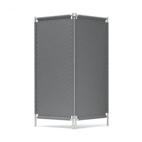 Hey-Sign Paravent / Raumteiler 160x160cm, anthrazit Filz 2 Elemente beliebig erweiterbar
