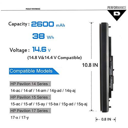 Emaks 807956-001 HS03 HS04 for HP Pavilion 15 15-BA 15-AY 15-AF 15-AC:15-ay039wm 15-ay041wm 15-ay191ms 15-ay009dx 15-ay068nr 15-ay021ds 15-ay169nr 15-ay075nr ay052nr ay103dx 17-X051NR (Laptop Battery)