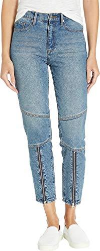Juicy Zip Couture (Juicy Couture Women's Moto Girlfriend Jeans w/Front Zips Desert Wash 28 26)