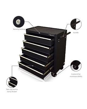 Gabinete para herramientas, de Us Pro Tools, caja para herramientas con ruedas color negro brillante: Amazon.es: Bricolaje y herramientas