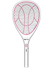 Night Cat Bug Zapper Racket Electric Fly Swatter Racquet Electronic Mosquito Killer with USB Charging LED Lighting Double Layer Protection