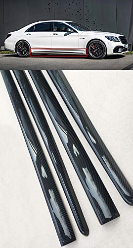 kit-car Carbon Fiber Side Skirt Covers - Lower Molding Trim 4 pcs Set - for Mercedes-Benz S-Class W222 Facelift 2017+