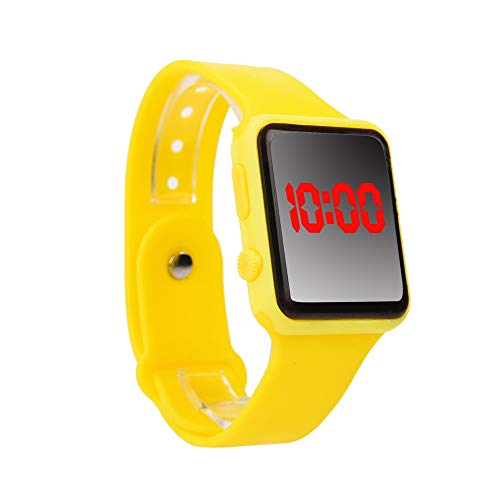 Digital LED Sports Watch,Alalaso Unisex Smart Silicone Band Simple Wrist Watches Men Children Fashion Watch (C)