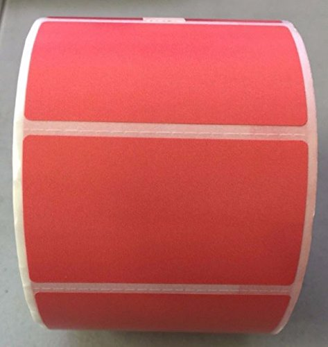 4 Rolls 2.25 x 1.25 Direct Thermal Labels RED 1000 Labels Per Roll Zebra / Eltron Printer Compatible 1