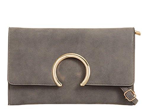 gris moyen gris Hautefordiva Pochette pour femme qZ88SBO