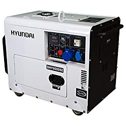 HYUNDAI Silent Diesel Generator DHY6000SE D, Stromerzeuger mit 5.3 kW (230 V) Leistung, Notstromaggregat für Baustellen…