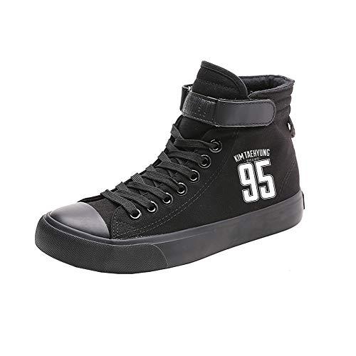 Zapatos De Ayuda Bts Alta Con Popular Black12 Fashion Lona Transpirables Pareja Cordones Spring rdqyqY8xF
