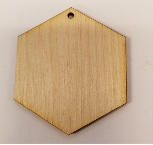 WOODNSHOP: 100pcs 4.5'' (high corner to corner) X 1/8'' inch WOODEN HEXAGON ONE 2mm HOLE CORNER UNFINISHED WOOD CRAFT FOR DISKS,TAGS,EARRINGS,WEDDING,PLAQUE,JEWELRY ,FAMILY BIRTHDAY CALENDAR,DIY