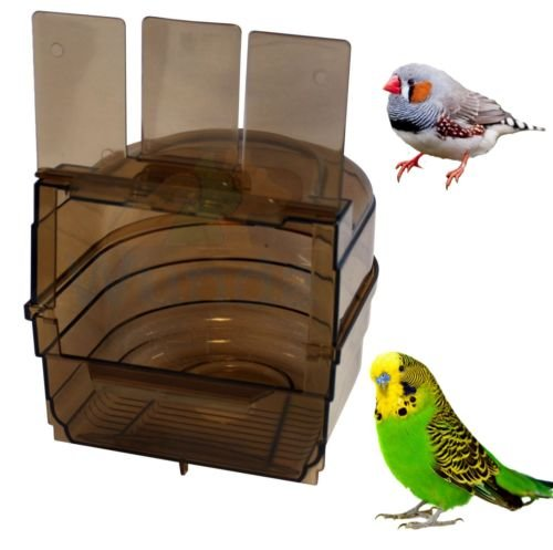 Caged Bird Bath Multi Cage Bird Bath for Budgies Canaries Finches Happy Pet