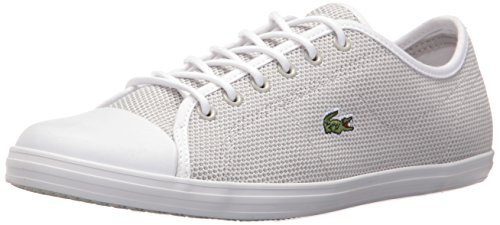 Lacoste Women's Ziane 117 1 Fashion Sneaker, Light Grey, 8.5 M US