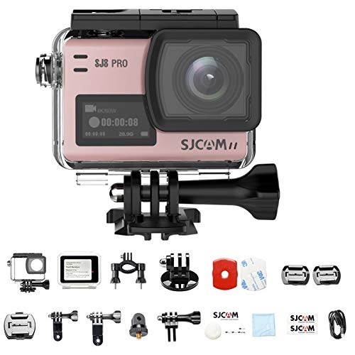SJCAM SJ8 Pro 4k Action Camera 60fps Water Resistant,OLED Large Ultra Full HD Touchscreen,EIS Stabilized,Dual Screen,Raw Image,1200mAh High Capacity Battery 5G WiFi