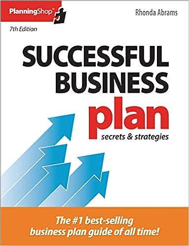 Successful Business Plan Secrets Strategies Successful Business