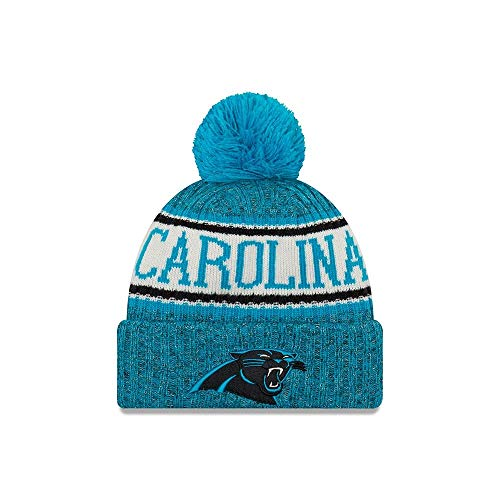 (New Era Carolina Panthers 2018 NFL Sideline On Field Sport Knit Hat - Blue)