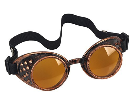 FUT Vintage Steampunk Goggles Glasses Welding Cyber Punk Gothic Goggles Novelty Sunglass Cosplay - Cyberpunk Sunglasses