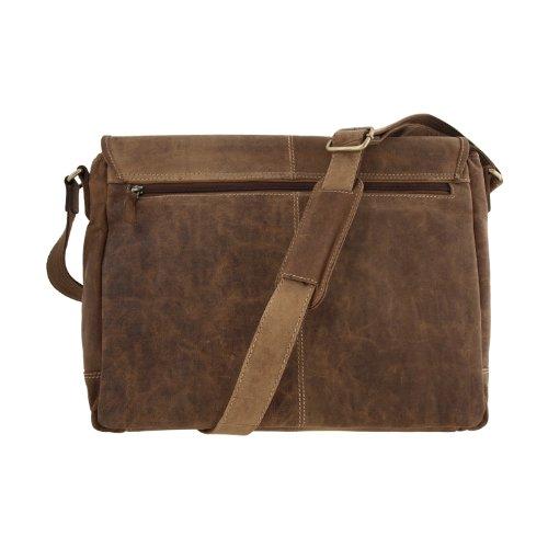 Laptoptasche / Messenger-Bag aus geöltem Buffalo-Leder - Extremely rugged Outback Wear Natural Buckskin BXESc