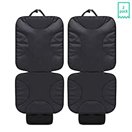 UMJWYJ 2 Pack Car Seat Protector Car Products Offers Thick Protection for Child Cars Seats, Dog Mat Durable Cover Protects Automotive Vehicle Leather