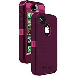 OtterBox Defender Series Case for iPhone 4/4S - Retail Packaging - Pink/Deep Plum (Discontinued by Manufacturer)