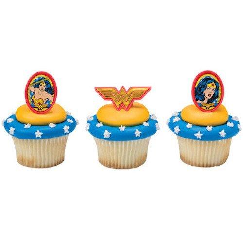 Wonder Woman Comics Cupcake Topper Rings - Set of 12]()