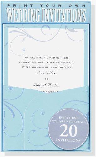 Kit Elegance Invitation (Blue Elegance Wedding Invitation Kit (Stationery, Imprintables Invite Kit))