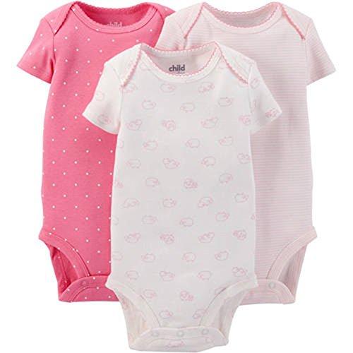 Child Carters Girls Sleeve Bodysuits
