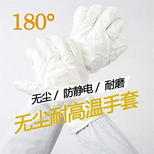 手袋 日常 実用 高温耐性手袋防水抗火傷防止帯電防止工業用絶縁手袋 (Color : White, Size : L)