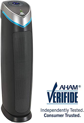 Germ Guardian True HEPA Filter Air Purifier for Home, Pets, Office, Bedrooms, Filters Allergies, Pollen, Smoke, Dust, Dander, UVC Sanitizer Eliminates Germs, Mold, Odors, Quiet 28 inch 3-in-1 AC5250PT