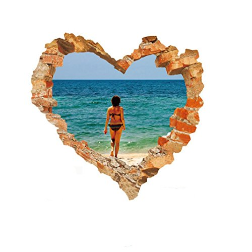 Gocheaper 1Set Decor Wall Stickers,Family Home Room Art Wall Decal 3D DIY Happy Valentine Removable Mural Gift by Gocheaper (Image #1)